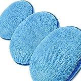 3 x Microfibre Polish Applicator Pad Kent Car Care Clean Valeting (Blue) Q9257