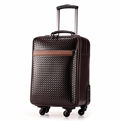 hoom-leather-swivel-trolley-koffer-reisegepack-kabine-h-50l33-w-21-cm-braun