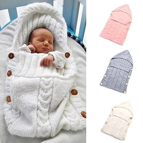 PU Ran Neugeborene Baby Infant Wickeltuch Knit Crochet Decke Schlafsack