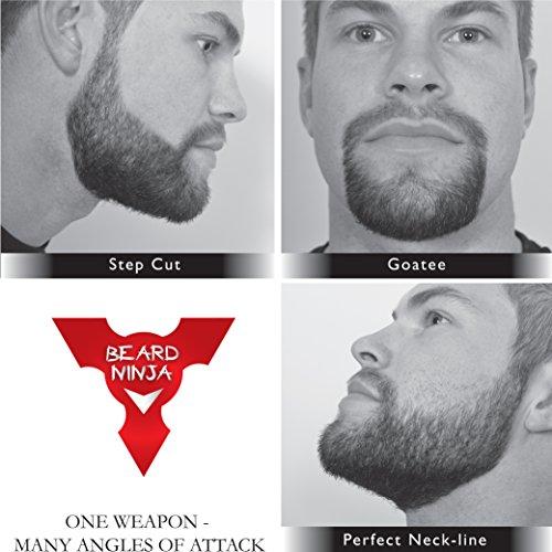 The-BEARD-NINJA-Beard-Shaping-Tool-Template-Beard-shaper-guide-for-line-up-edging-TRANSPARENT-styling-stencil-ANTI-SLIP-GRIP-CurveStepStraight-Cut-Goatee-Perfect-Neck-Line