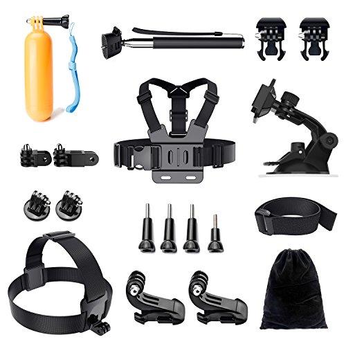 Gopro Accessoires Kit, LUSCREAL Ensemble d'accessoires pour appareils photo vidéo pour jeu de sport en plein air pour Gopro Hero 5 Session 4 3+ 3 2 1 SJ4000 SJ5000 SJ6000 Xiaomi Yi DBPOWER AKASO APEMAN WiMiUS Sony Sports DV