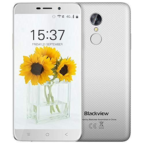 Günstiges Smartphone, Blackview A10 2GB RAM + ROM 16GB Dual SIM To outmoded on 5.0 Zoll HD IPS Reach Set forth Andorid Smartphone, 5MP + 8MP Cameras Android 7.0 mit 2800mAh Battery Sagacious,Weiß