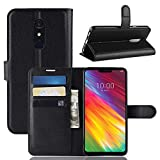 ECENCE Phone Case Cover Wallet Black compatible for LG G7