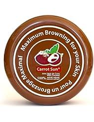 Carrot Sun® Activateur et Accélérateur de Bronzage avec l'Huile de Noix de Coco, L-Tyrosine, et le Henné pour un bronzage doré rapide! 350ml