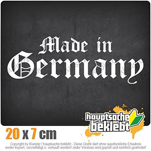 KIWISTAR Aufkleber - Made in Germany altdeutsch - Autoaufkleber Sticker Bomb Decals Tuning Bekleben