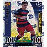 Match Attax Champions League - #498 Lionel Messi 100 Club Card by Match Attax