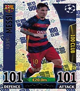 Match Attax Champions League 498 Lionel Messi 100 Club
