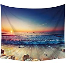 JLA Tapestry, Beach Reef Wall Hanging, Suitable For Living Room Bedroom Hallway Kitchen Decor, Versatile For Cushions, Beach Towels, Table Linen, Polyester,C,150X100cm