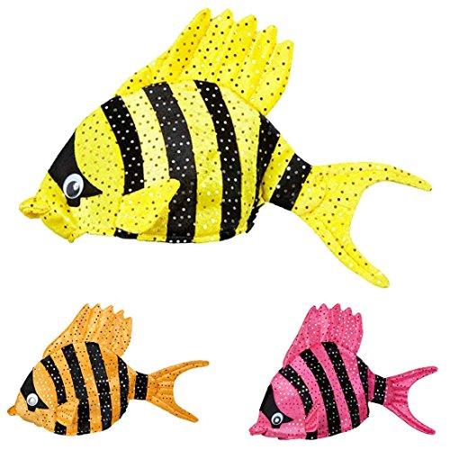 Fischmütze Tropen Fisch Hut gelb Kopfbedeckung Fisch Fischhut Fischkostüm Zubehör Karnevalshut lustige Hüte