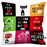 Indigifts Indibni You And Me Cushion Cover 12X12 With Filler
