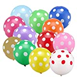 PuTwo Luftballon Punkte, 50 Stück 12 Zoll Bunte Luftballons von Luftballons Punkte Ballons Punkte, Latexballons für Ostern Deko, Deko Regenbogen, Zirkus Party, Candyland Deko, Cookie Monster Party