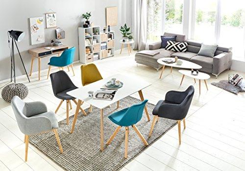 🛒 Design Couchtisch 2er Set SKANDI Skandinavischer Retro Look ...