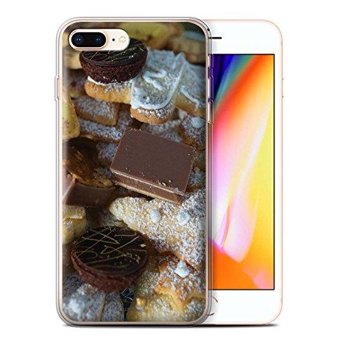 Stuff4 Gel TPU Hülle / Case für Apple iPhone 8 Plus / Kekse/Plätzchen Muster / Weihnachten Essen Kollektion Dessert