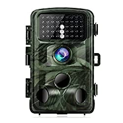 "TOGUARD Trail Game Camera 14MP 1080P Infrared Night Vision Hunting Camera Motion Activated Wild Hunting Cam 120° Detection 0.3s Trigger Speed 2.4"" LCD Display IP56 Waterproof"