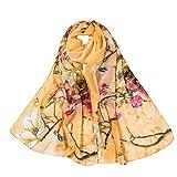Seiden-Tuch Damen Gedruckter Schal - Eleganter Sommer-Schal für Frauen - Oyedens Halstuch und Chiffon-Stola Dezent Stilvoll