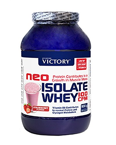 Neo Iso Whey 100CFM 900gr Fresa. 100% aislado de proteina de suero. Sin grasas. Para dietas keto.