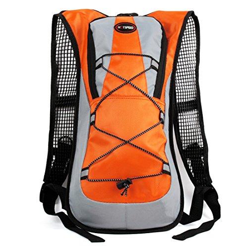 Grofitness Outdoor ciclismo zaino pratico sacchetto di campeggio escursionismo viaggio borsa a tracolla, Orange Orange