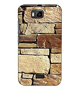 Fuson Designer Back Case Cover for Huawei Honor Bee :: Huawei Honor Bee Y5c (Stone Wall Theme)