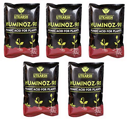 Utkarsh Huminoz-98 (1 kg) (Biologically Activated Humic Acid 98% for Plant) (Set of 5)