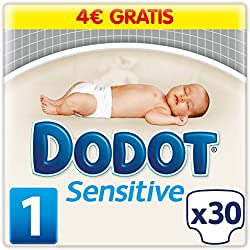 Dodot Sensitive, Talla 1, 4 packs de 30 [120 pañales]