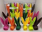 Per la speciale tavola di Pasqu: Tavaglioli piegati come coniglietti di Pasqua per tutti nel suo colore preferito. Tovaglioli in cellulosa sbiancata al 100 % senza cloro, 3 strati, 33x33cm piegato: circa 11 cm di altezza, 6 colori diversi. ...