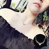 BAOZIV587 Einfache Student kurze Anhänger kleine frische Sen Halskette weibliche Schlüsselbein Kette Schmuck Schmuck, leuchtend gelb - Flash-Bohrmaschine