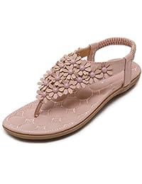 Sandales femme KPHY-champ de pente à l'aide du glisser-déposer et porter un épais doux fleurs antidérapant chaussures de plage vacances Chaussons 38 Mer Noire