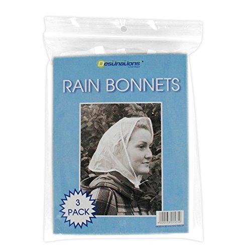 Regenhauben 3er Pack, klarer Kunststoff, Wasserdicht mit Schnur (Befestigt Motorhaube)