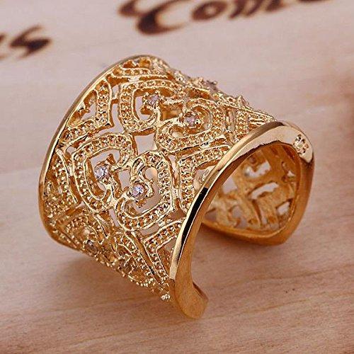 YAYA Versilberten Design Finger Ring Für Die Dame ,Rose Red,verstellbar