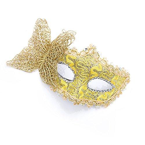 Tourwin Gold Butterfly Maske für Halloween Masquerade Kostüm Theater Prop (Kostüme Erwachsene Für Halloween Butterfly)