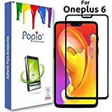 Oneplus 6 Edge To Edge Full Glue, No Rainbow, Full Front Body Cover Tempered Full Glass Screen Protector Guard - Crystal Black By POPIO®