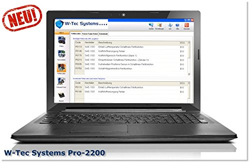 W-Tec Systems KFZ Diagnose Notebook Pro-2200 - Alle KFZ Hersteller