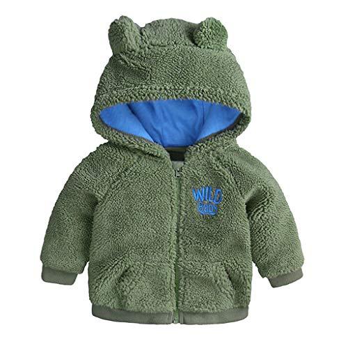 Kostüm Hobo Machen - DQANIU Baby Mantel, Neugeborenes Baby Jungen Mädchen Cartoon Bär Brief Langarm Warme Kapuzenmantel Schneeanzug 0-24 Mt