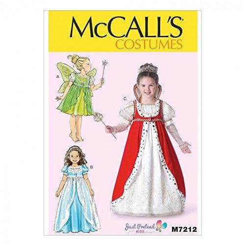 chnittmuster 7212Princess Fancy Dress Kostüm + gratis Minerva Crafts Craft Guide (Princess Fancy Dress Kostüme)