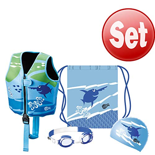 Beco Sealife Ray SET Schwimmweste, Kappe, Brille & Beutel