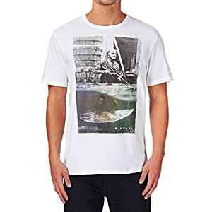 Rip Curl Mamie Canette Short Sleeve T-Shirt XX Large White Black