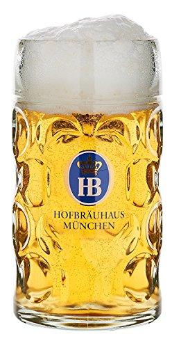 HB Hofbräuhaus München Bierkrug Hofbräuhaus München HB Glaskrug 0,5 Liter King Werk KI 1000062