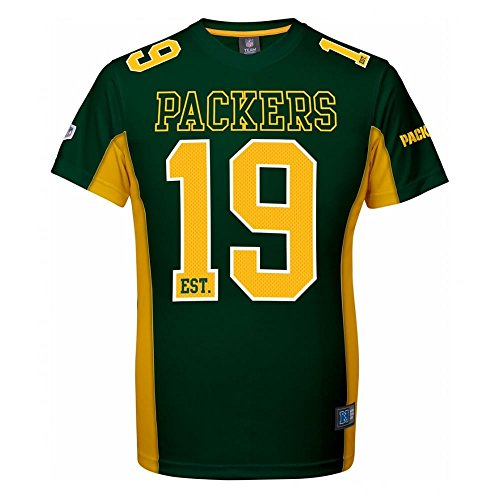 Majestic Green Bay Packers Moro Est. 21 Mesh Jersey NFL T-Shirt XL