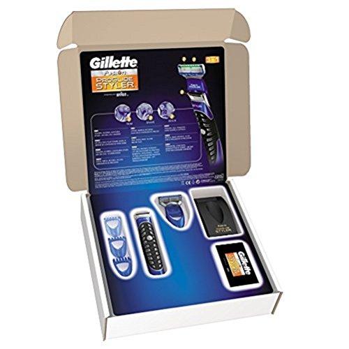 Gillette Fusion ProGlide All Purpose Power Styler 3 in 1 (Trimmer, Rasierer und Konturierer, batteriebetrieben, briefkastenfähige Verpackung)