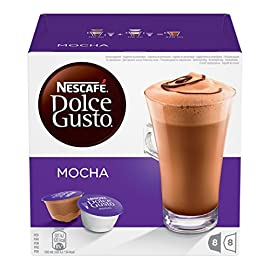 NESCAFÉ DOLCE GUSTO Mocha Coffee Pods, 16 Capsules (Pack of 3 – Total 48 Capsules, 24 Servings)