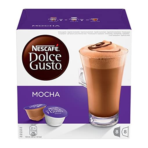 NESCAFÉ DOLCE GUSTO Mocha Coffee Pods, 16 Capsules (Pack of 3 – Total 48 Capsules, 24 Servings) 51A7Jw5WBpL