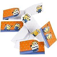 KULTFAKTOR GmbH Minions Einladungskarten Party Deko Set 6 Stück Bunt  Einheitsgröße
