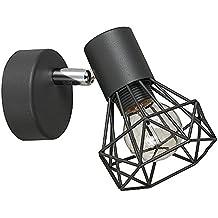 MiniSun - Precioso aplique de pared 'Gabbia' vintage - lámpara con pantalla de jaula