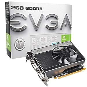 Evga VGA GT740 Scheda Grafica 2GB, Nero