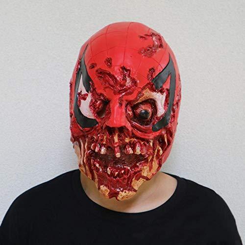 Circlefly Halloween Horror Blutige Schädel Maske Latex Horror Perücke