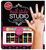 [( Nail Style Studio: Simple Steps to Painting 25 Stunning Designs [With 6 Bottles of Nail Polish, Custom Design Tool and 250 Stick-On Stencils] By Steele-Saccio, Eva ( Author ) Paperback Aug - 2013)] Paperback