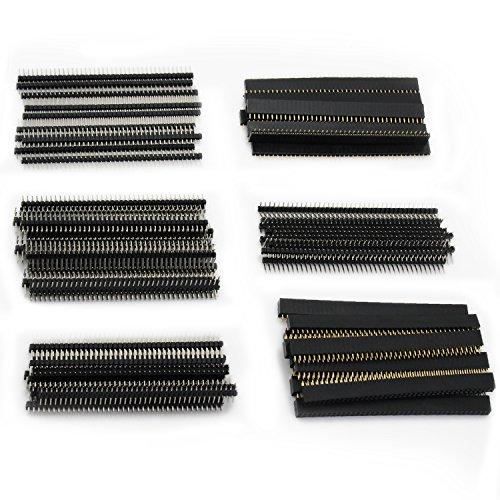 Amazon.co.uk - Female Single Row Straight Pin Header Pitch 2.54mm