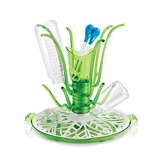 Munchkin Sprout Trockenständer für bis zu 12 Flaschen und Zubehör, grün