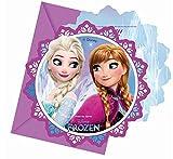 Disney Frozen Eisstern 6 Einladungskarten