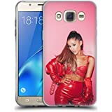 Official Ariana Grande Red Leather Dangerous Woman Soft Gel Case for Samsung Galaxy J7 (2016)
